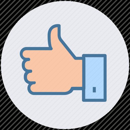 favorite, hand, like, like hand, thumb, vote icon
