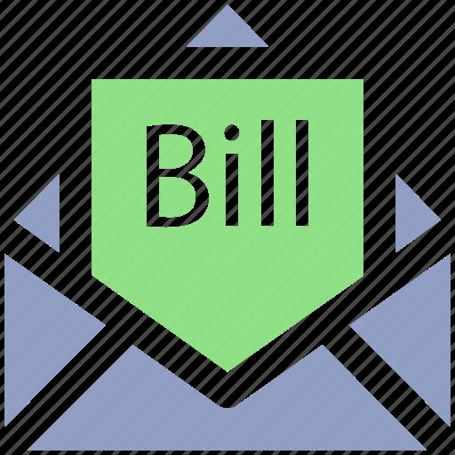 Bill email, bill in letter, email, invoice, letter, letter envelope icon - Download on Iconfinder