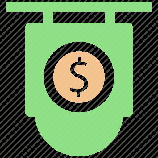 board, currency, dollar, dollar sign icon