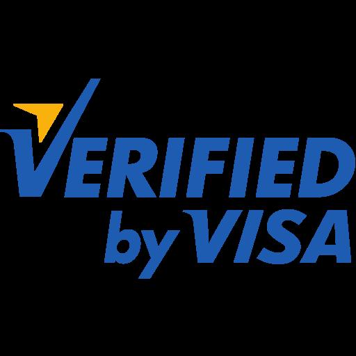 by, verified, visa icon