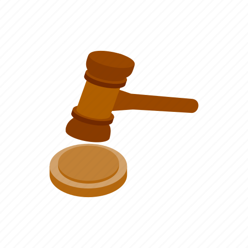 gavel, isometric, judge, justice, law, lawyer, legal icon