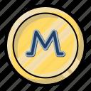 coin, cryptocurency, monero, money, rates icon