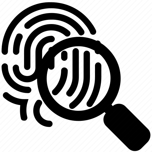 court, fingerprint, jurisprudence, law, police, search icon