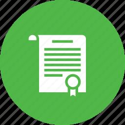 appraisal, case, certificate, court, medal, warrent, winner icon