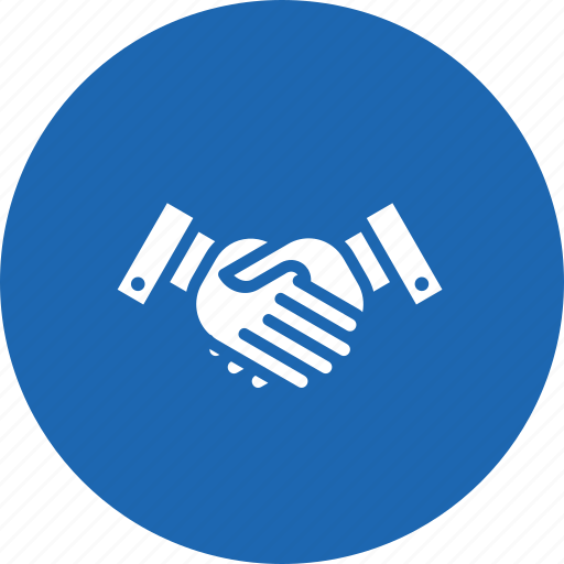 case, collboration, handshake, lawyer, partnership, solved icon