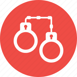 arrest, breaking, crime, fetter, handcuffs, law, police icon