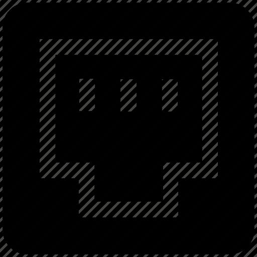 ethernet, internet, lan port, network, port icon