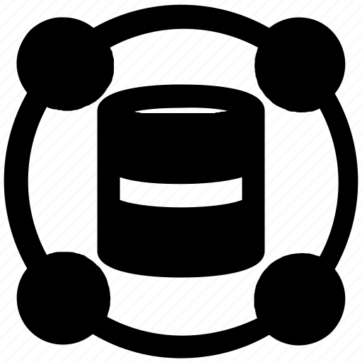 circle, privacy, protect, security, server icon