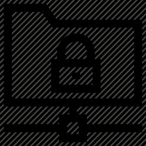 folder, lock, private, sharing icon