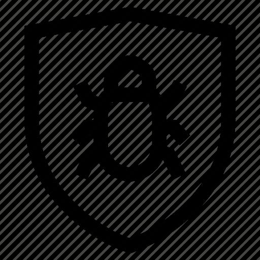 malware, protection, shield, virus icon