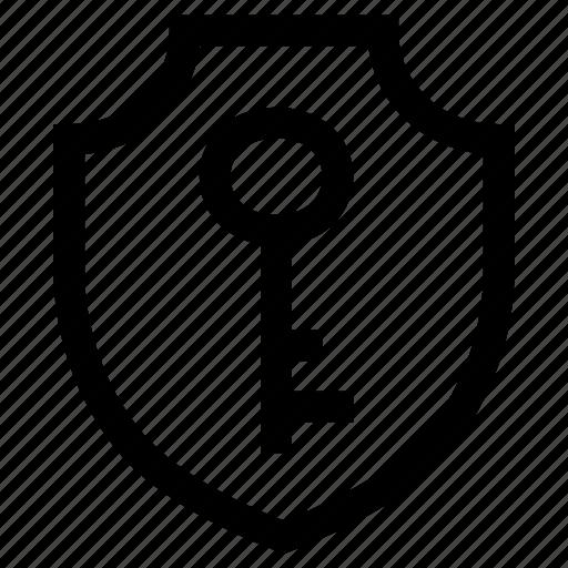 lock, private, protection, shield icon
