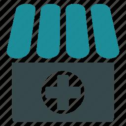 ambulance, clinic, drugstore, hospital, medical, pharmacy, shop icon