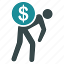 business, cash, courier, delivery, dollar, finance, money icon