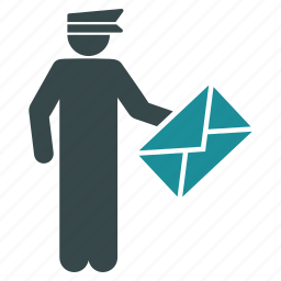 delivery, email, envelope, letter, mail courier, message, postman icon
