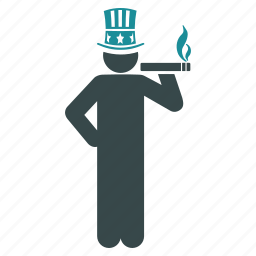 capitalist, government, patriot, president, uncle sam, united states, usa icon