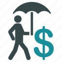 care, insurance, protection, safe, safety, shield, umbrella icon