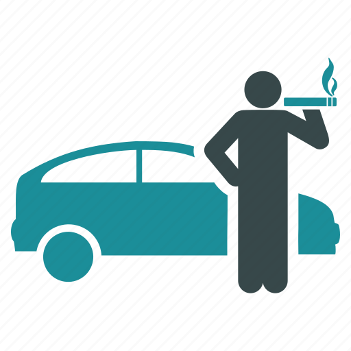 car, driver, passenger, smoke, smoker, taxi, wait icon