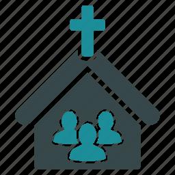 architecture, building, church, community, religion, religious, temple icon