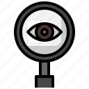 eye, magnifying, glass, search, glass0aroot, cause