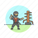 crime, man, ninja, practice, sword, train, warrior icon