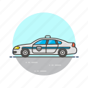 car, cop, crime, patrol, police, transport, vehicle icon