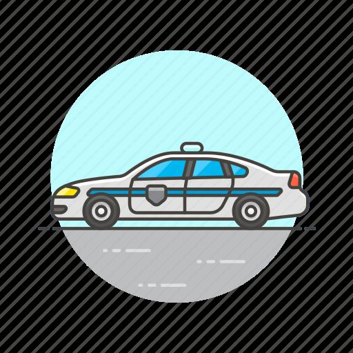 car, cop, crime, patrol, police, transport, vehicle icon