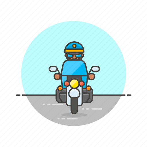 crime, man, motorcycle, officer, patrol, police, ride, vehicle icon