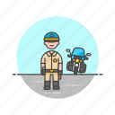 crime, motorcycle, police, man, officer, car, patrol, vehicle