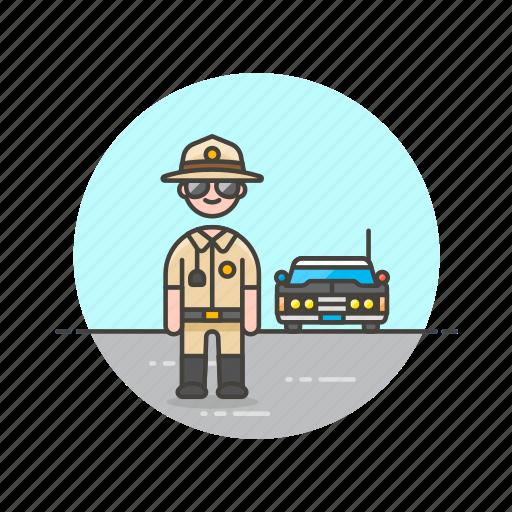 car, cop, crime, man, patrol, police, sheriff, vehicle icon
