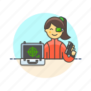 avatar, code, crime, gun, hacker, police, spy, woman icon