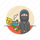 bomb, crime, fire, man, mask, police, rebel, rioter icon