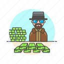bad, breaking, crime, dealer, drug, heisenberg, meth, money icon