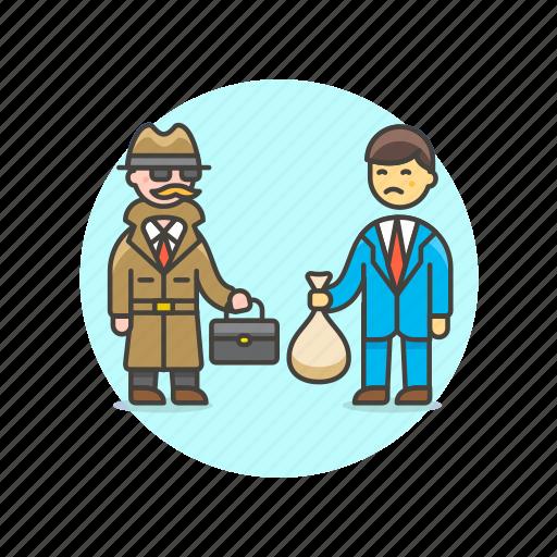 crime, deal, detective, exchange, incognito, police, transfer icon