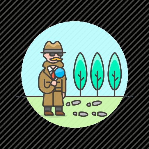 clue, crime, detective, explore, find, hint, police, search icon