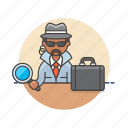 crime, detective, investigator, man, police, search, spy icon