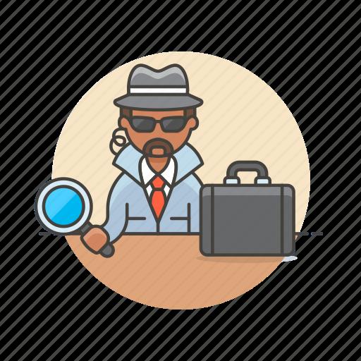crime, detective, investigator, man, police, search, spy icon