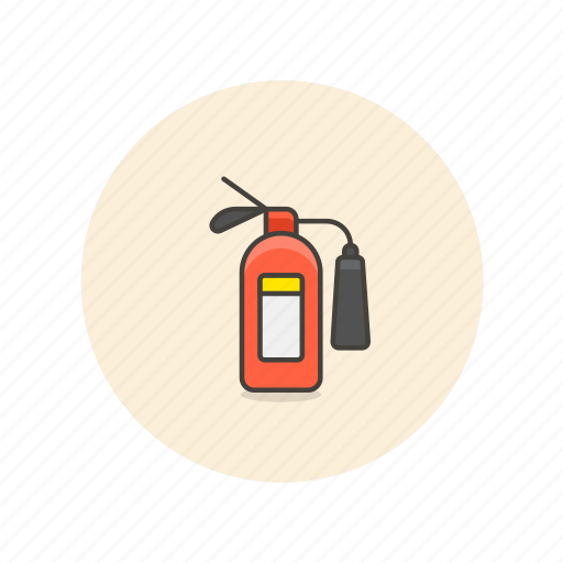 crime, extinguisher, fire, light, police, safety, security icon