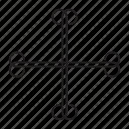 add, addition, catholic, christian, cross, plus icon