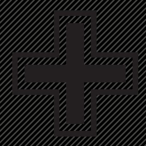 add, catholic, christian, cross, plus, religion icon