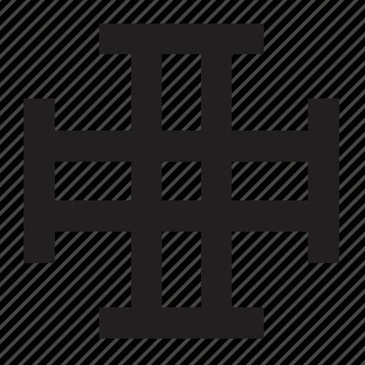 addition, catholic, christian, cross, plus, religion, sign icon