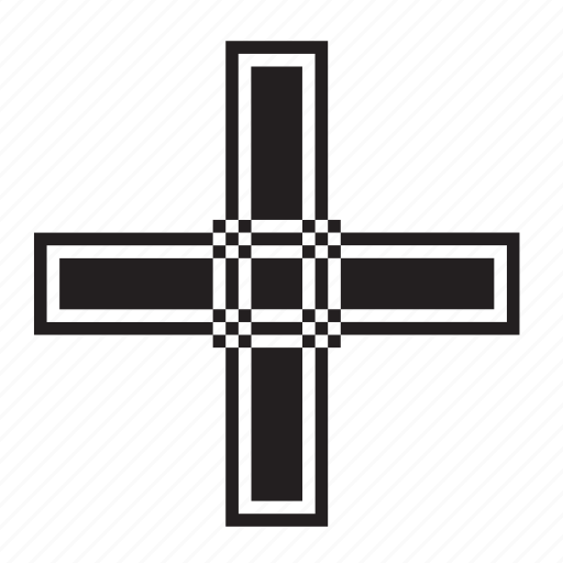 add, catholic, christian, cross, plus, religion icon