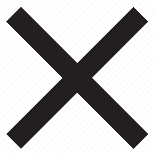 close, cross, delete, remove, sign, x icon