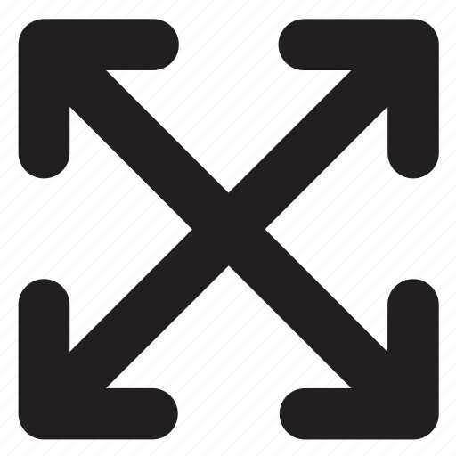 arrow, cross, enlarge, expand icon