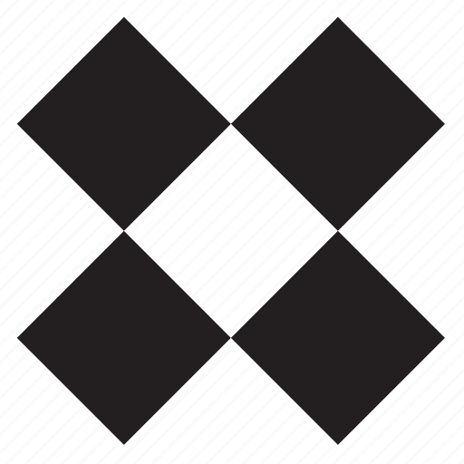 cross, shape, sign, square, x icon