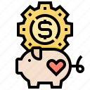 charity, deposit, donation, money, saving icon