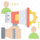 general, marketing, public, raise, solicitation icon
