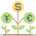 currency, economic, growth, money, profit icon