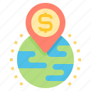 finance, global, investment, profit icon