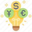 currency, earning, income, money, revenue icon