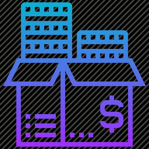 business, crowdfunding, fee, finance, venture icon